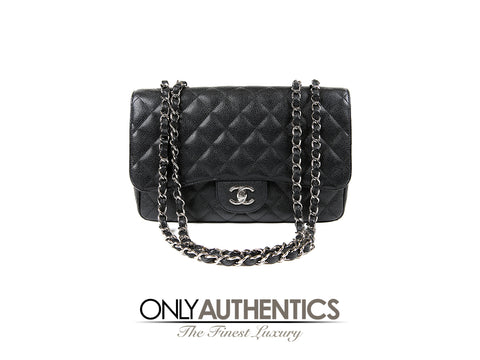 Chanel Black Caviar Jumbo Classic Single Flap Bag