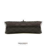 Chanel Black Distressed Calfskin Reissue 2.55 Large Flap Bag