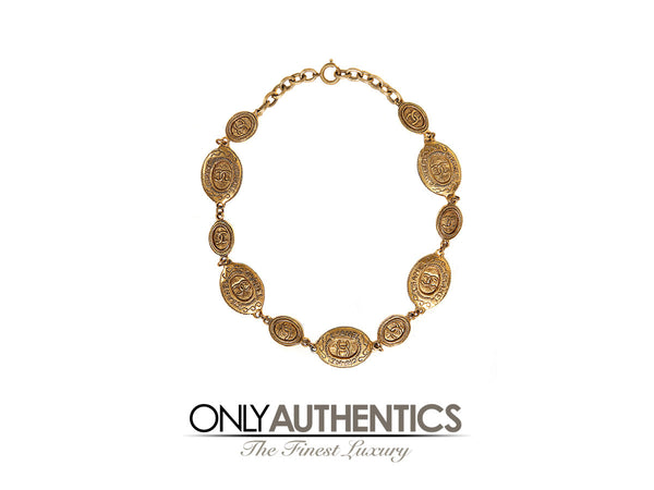 Chanel Oval Coin Necklace