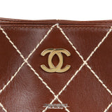 Chanel Brown Topstitched Day Bag