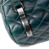 Chanel Green Leather Backpack
