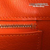 Hermès Orange Ostrich 35 Cm Birkin Bag