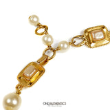 Chanel Gripoix and Pearl Medallion on Pearl Strand