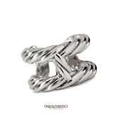 Hermès Silver Rope H Ring size 6.25
