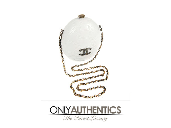 Chanel Ivory Resin Turtle Shell Print Bag