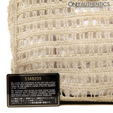 Chanel Vintage Beige Crocheted Tote