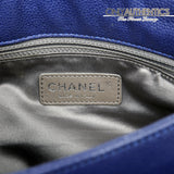 Chanel Cobalt Blue Caviar Leather Hobo