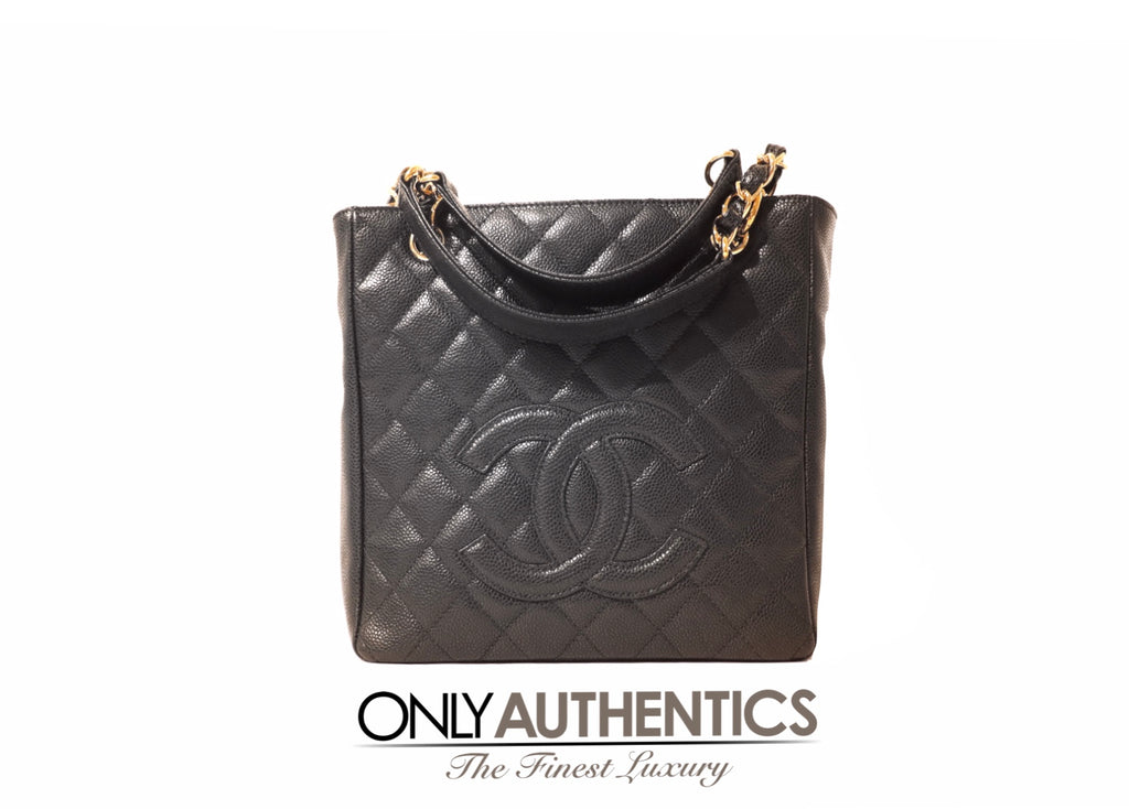 Chanel Black Caviar PST Petite Shopping Tote