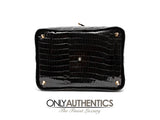 Black Porosus Crocodile XL Vintage Travel Bag
