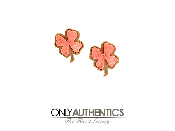 Chanel Clover CC Earrings