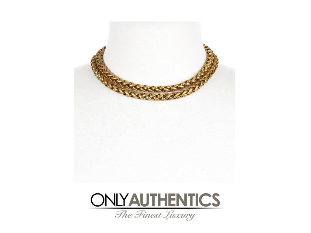 Chanel Gold Double Strand Choker