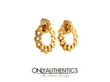 Chanel Gold Wreath Earrings