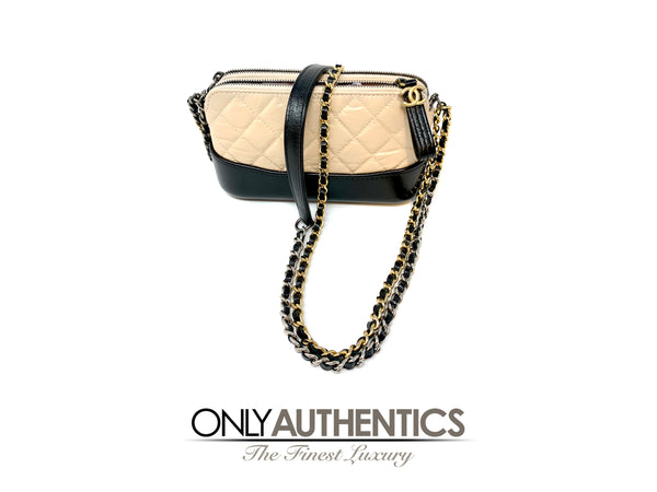 Chanel Beige Leather Gabrielle Crossbody Bag