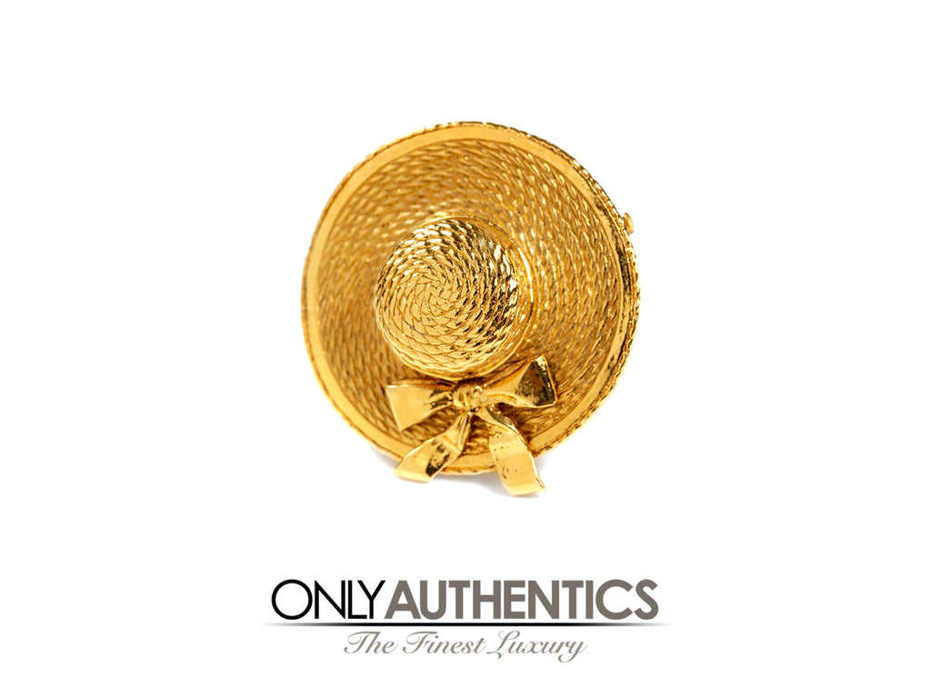 Chanel Gold Vintage Hat Pin Brooch