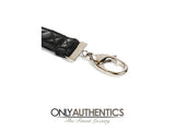 Chanel Black Leather Lanyard with Silver