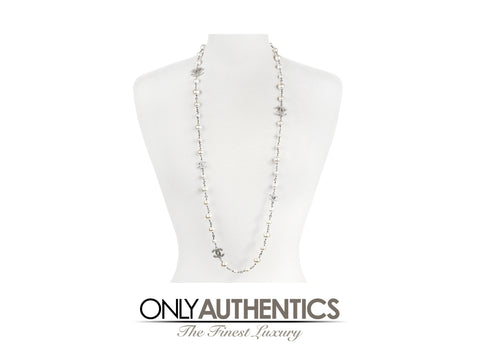 Chanel Long Pearl CC Chain Necklace
