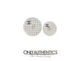 Chanel Lucite and Crystal Disc Earrings