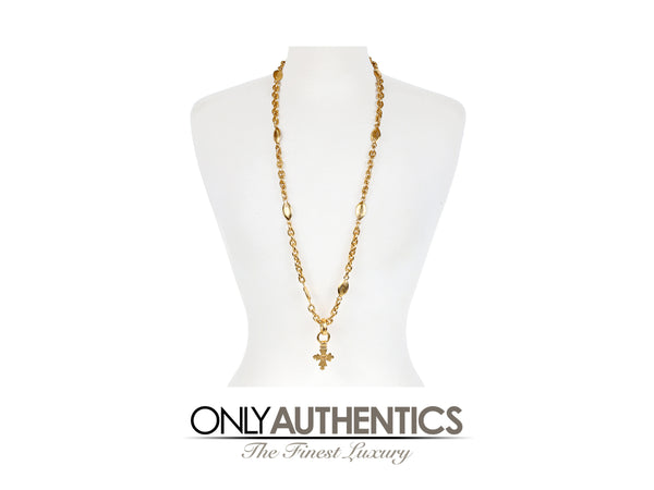 Chanel Gold CC Cross Necklace