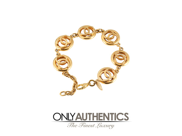 Chanel Gold CC Bracelet