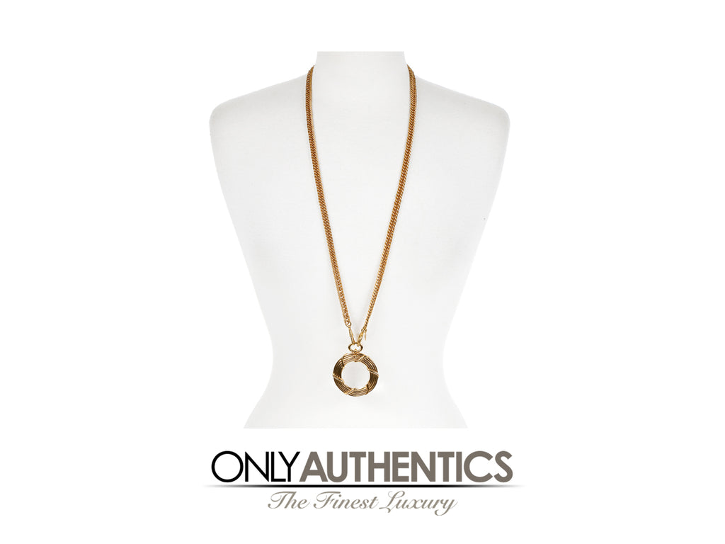 Chanel Gold Rope Magnifier Necklace