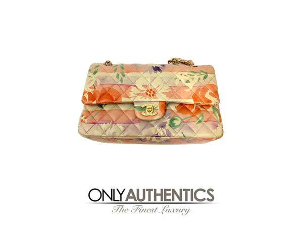 Chanel Floral Watercolor Double Flap Bag