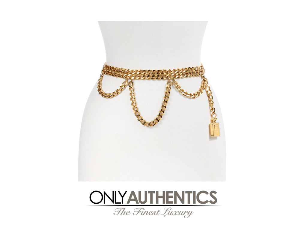 Chanel Perfume Bottle Triple Chain Belt