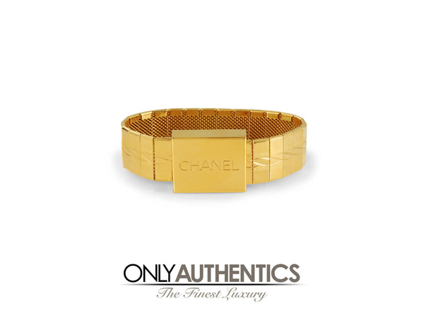 Chanel Gold Watch Band Bracelet