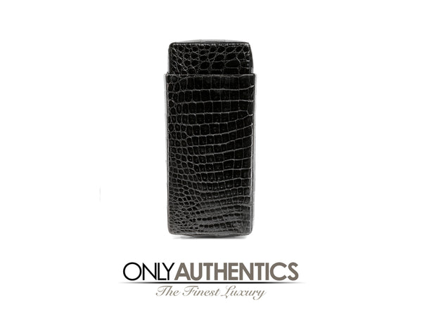 Black Crocodile Slide Case