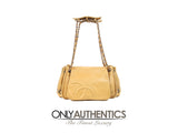 Chanel Beige Leather Accordion Flap Bag