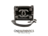Boy Brick Crossbody Flap Bag in Black