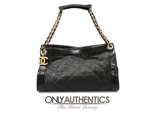 Chanel Black Calfskin Large Shopper Tote