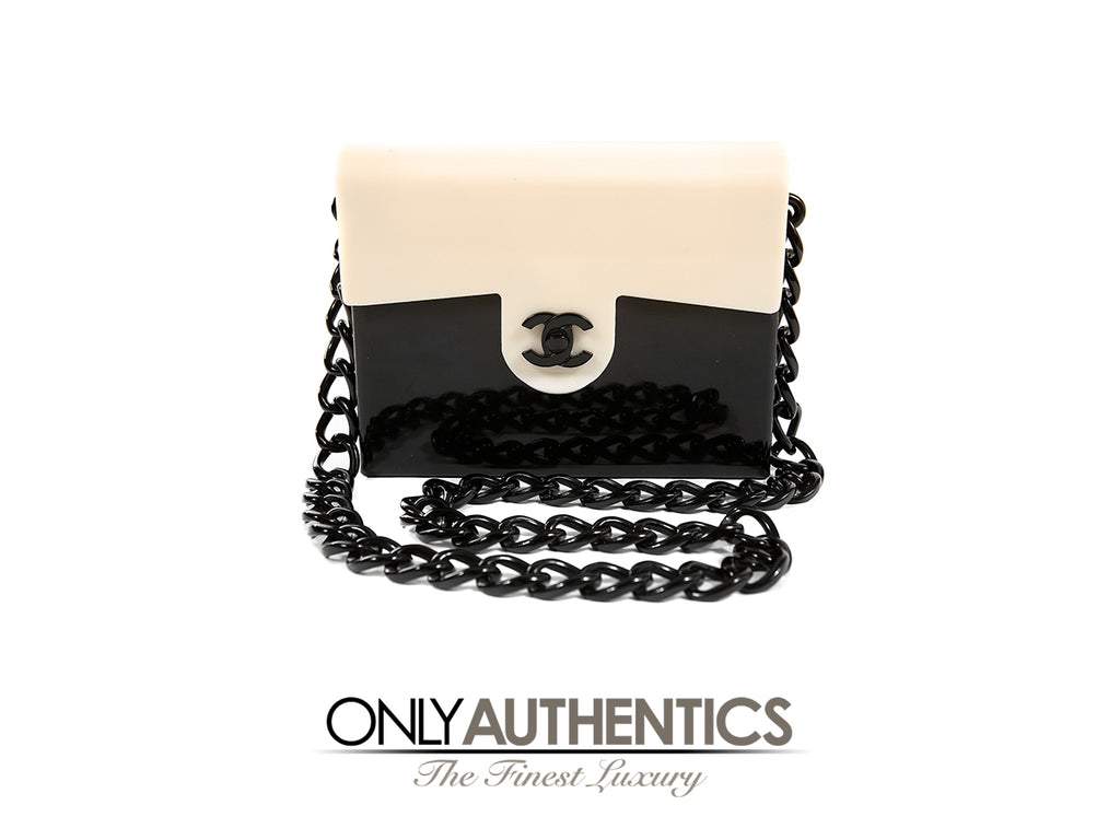 Chanel Black and Cream Bakelite Vintage Small Bag