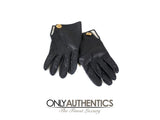 Black Leather Gloves size 7