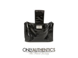 Chanel Black Patent Leather Handle Bag