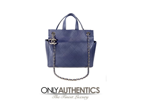 Chanel  Blue Caviar Tote with Handles