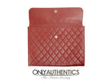 Bordeaux Leather Oversized Clutch