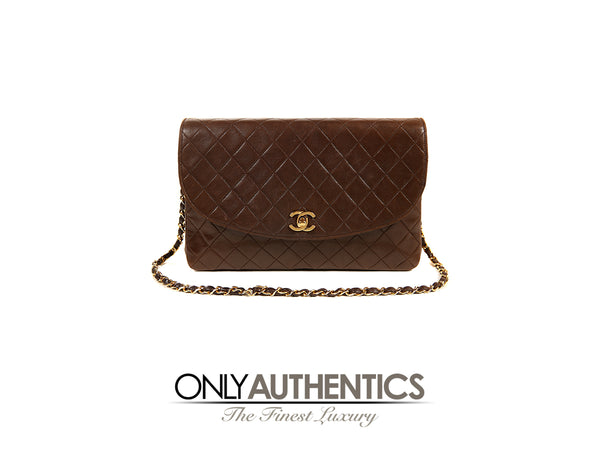 b4aaeacef461 Chanel Brown Leather Medium Flap Bag