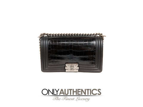 Chanel Black Crocodile Boy Bag