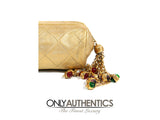 Gold Vintage Gripoix Tassel Evening Bag
