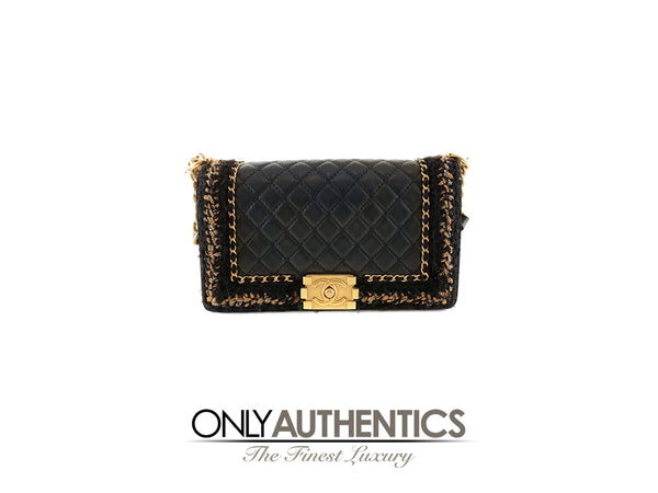 Chanel Black Boucle Boy Bag