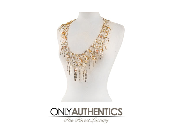 Chanel Gold Net Dripping Chain Necklace Belt