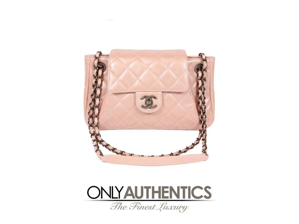 Pink Pearl Leather Cross-body Bag