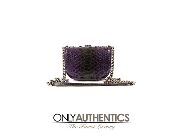 Purple Python Crossbody Bag