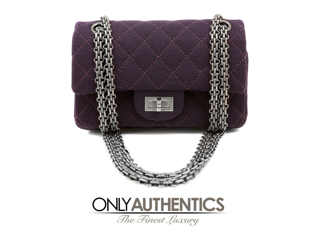 Chanel Purple Quilted Jersey 2.55 Reissue Bag