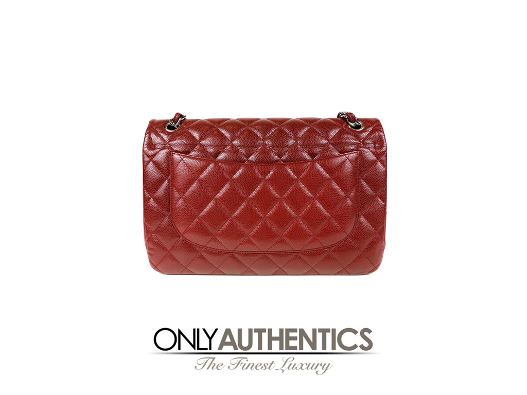 25e0955b404 Red Caviar Jumbo Classic Double Flap Bag – Only Authentics