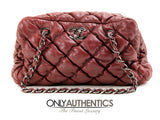 Chanel Red Leather Bubble Quilt Bag