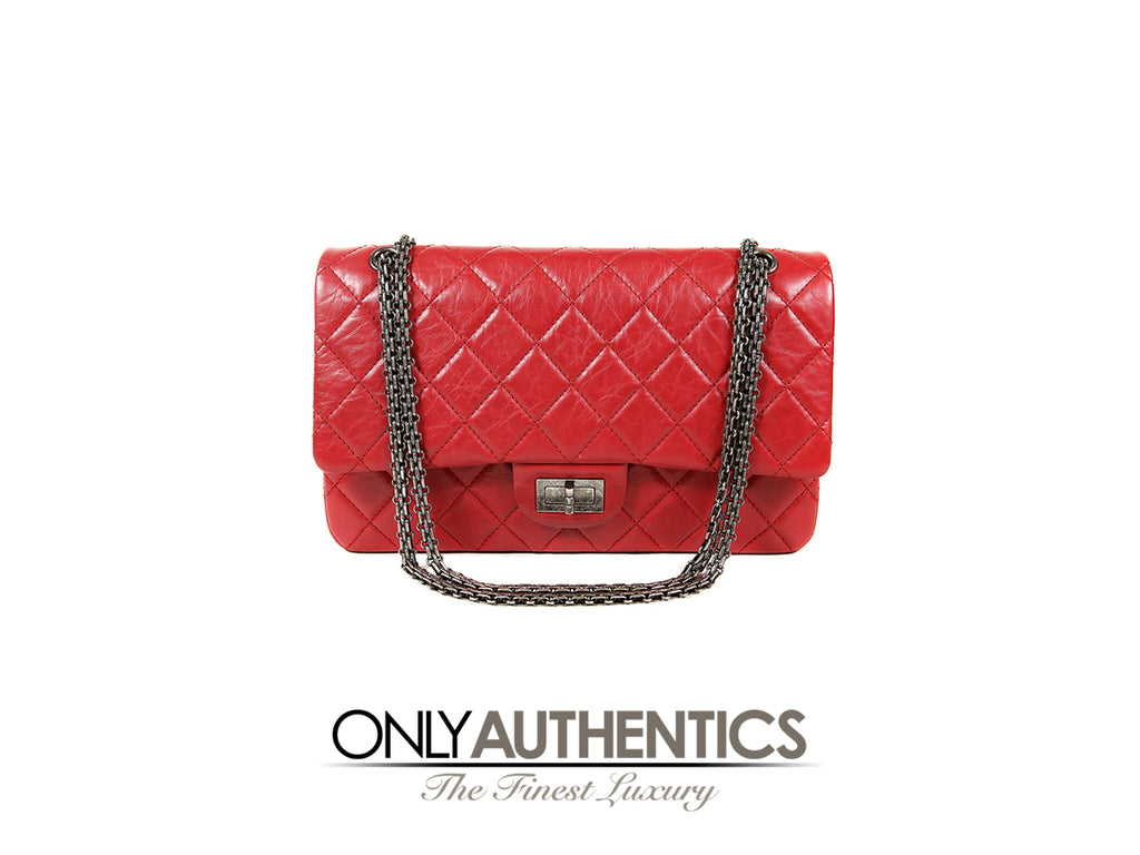 Red Calfskin 2.55 Reissue Double Flap Bag