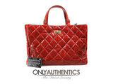 Red Patent Leather Rita Tote