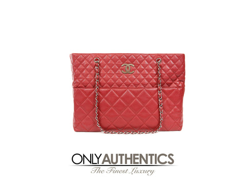 Chanel Red Quilted Leather XXL Tote Bag