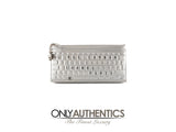 Chanel Metallic Silver Keyboard Clutch